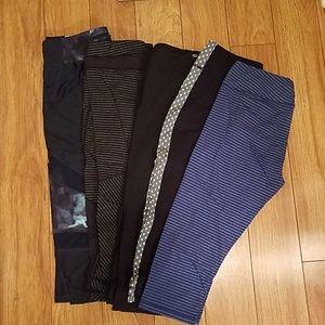 *LOT* 5 Pairs Crop Workout Pants Large